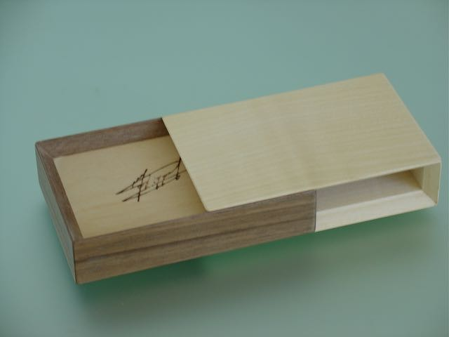 doosje voor visitekaartjes vorm tegenvorm