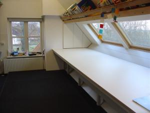 kantoor, werkblad, Ordnerkasten, Zegveld