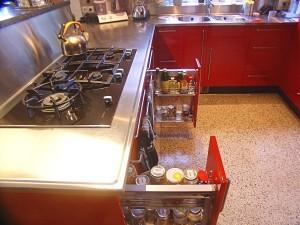 keuken Red Priest, hoogglans rood